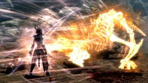 Кинематографическое поглощение души дракона в Скайриме